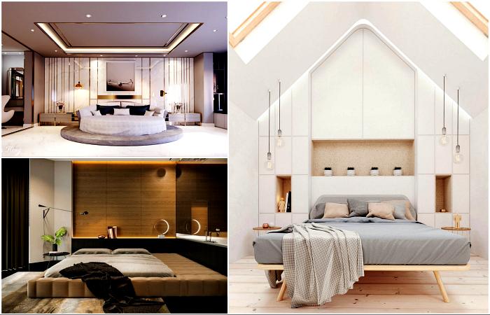 Вдохновляющие примеры дизайна спальни.