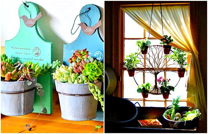 Идеи, которые превратят цветы в необычные элементы декора.