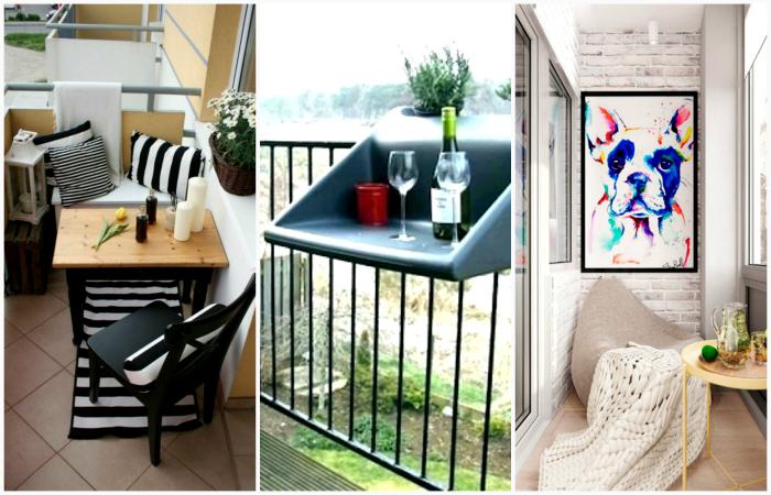 Примеры обустройства маленького балкона.