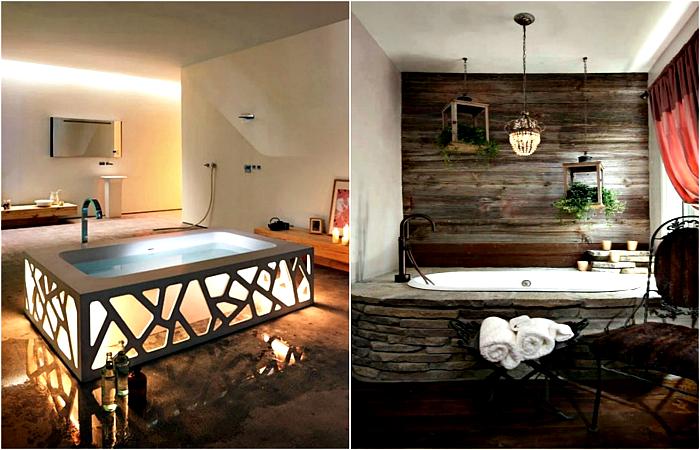 Современные идеи оформления ванны.