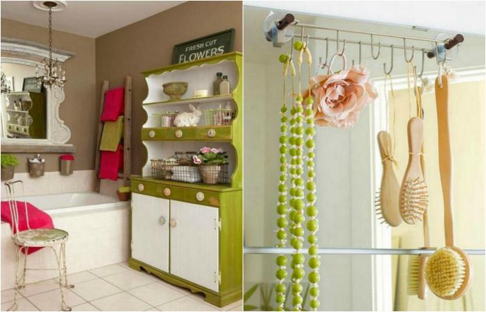 Небанальные идеи хранения вещей в ванной комнате.