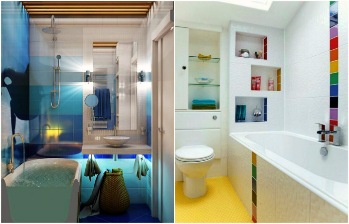 Свежие и практичные идеи обустройства маленькой ванны.