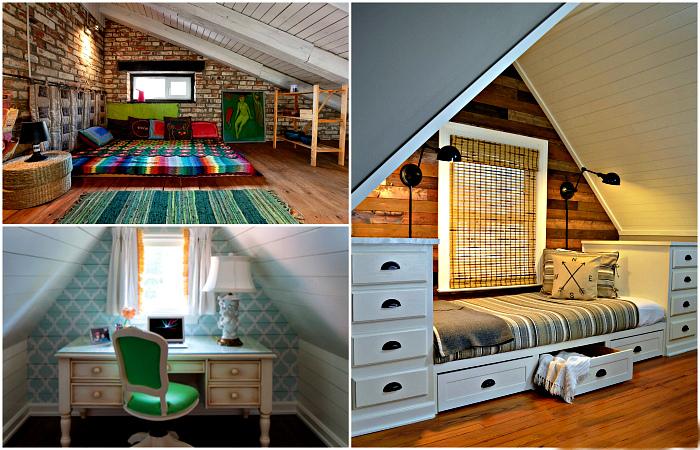 Вдохновляющие примеры оформления чердачного помещения на даче.