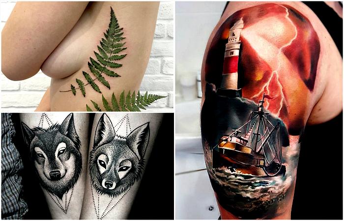 Лучшие идеи и сюжеты татуировок уходящего года.