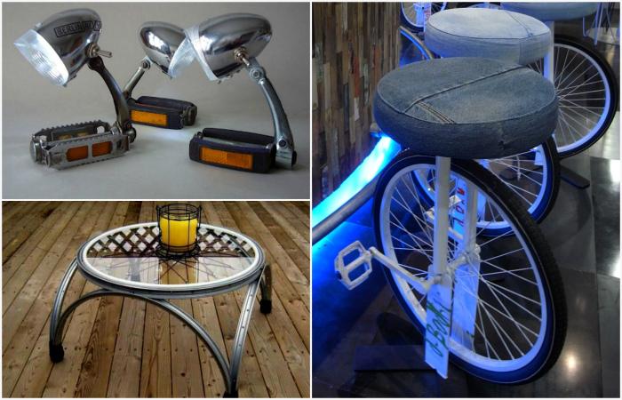 Креативные идеи использование ненужных велосипедных колес.