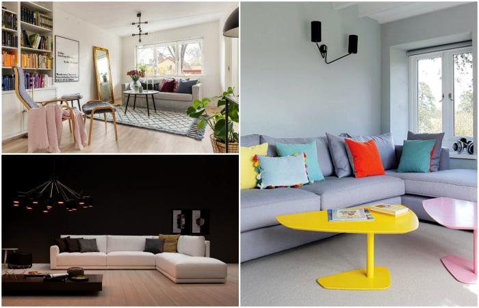 Вдохновляющие идеи дизайна современной гостиной.