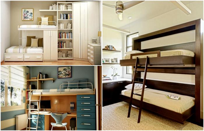 Эргономичные конструкции для небольших спален.