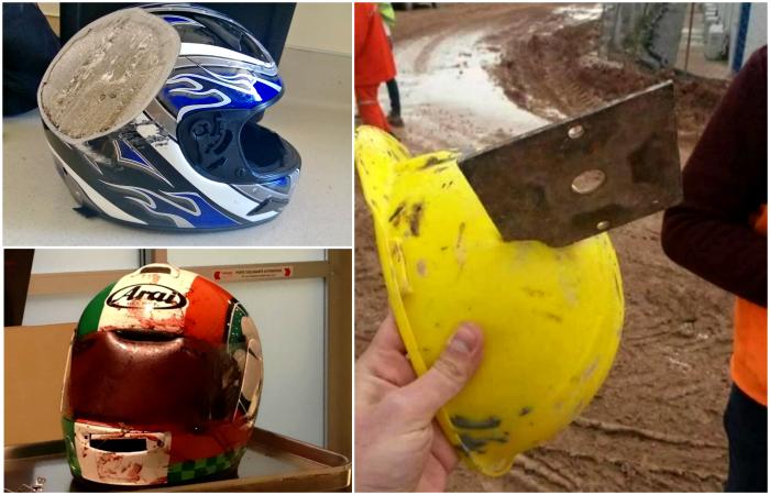 Шлемы, которые спасли людям жизнь.