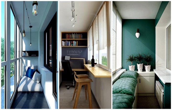 Чудесные идеи дизайна лоджии в городской квартире.