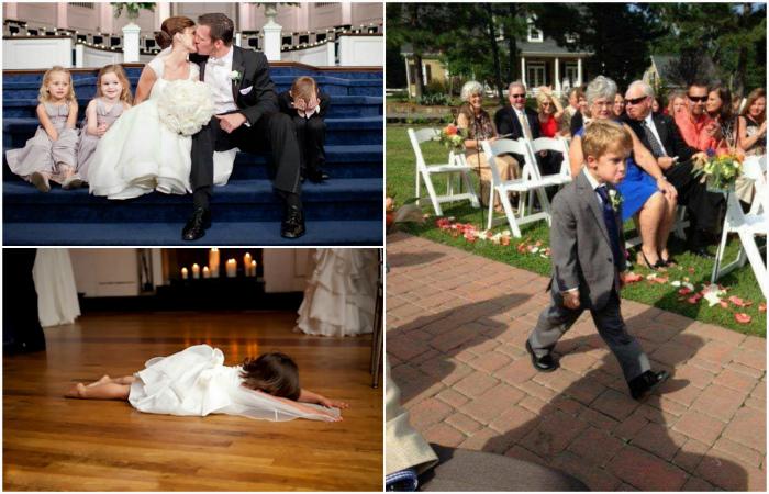 Забавные малыши, которые ненавидят свадьбы.