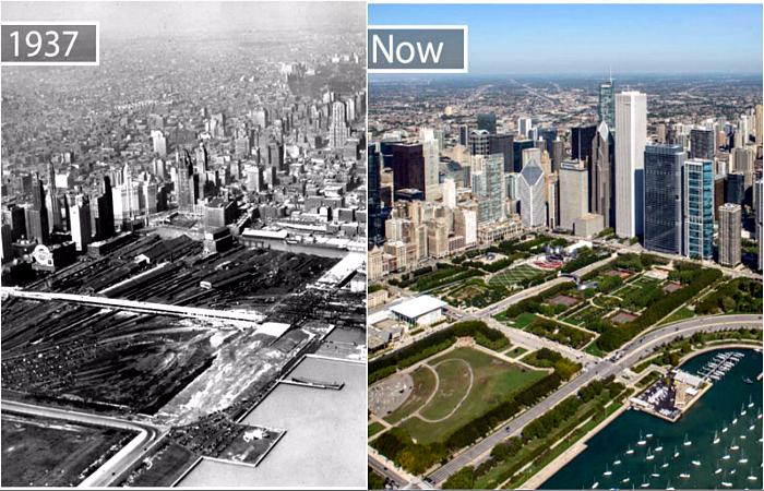 Снимки из серии «тогда» и «сейчас».