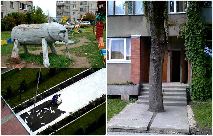 Забавные снимки о трудовых буднях бравых работников ЖКХ.
