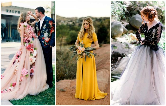 Незвичайні ідеї весільного вбрання нареченої.