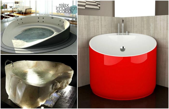 Оригинальные ванны, которые станут изюминкой любого пространства.