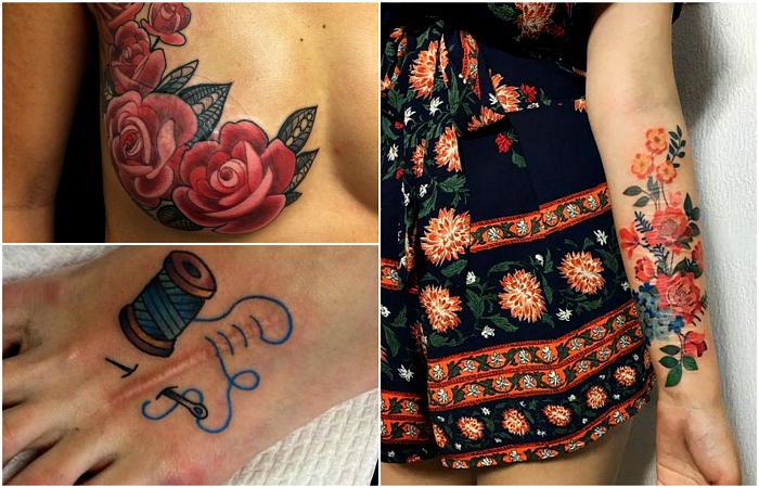 Татуировки, скрывающие шрамы.