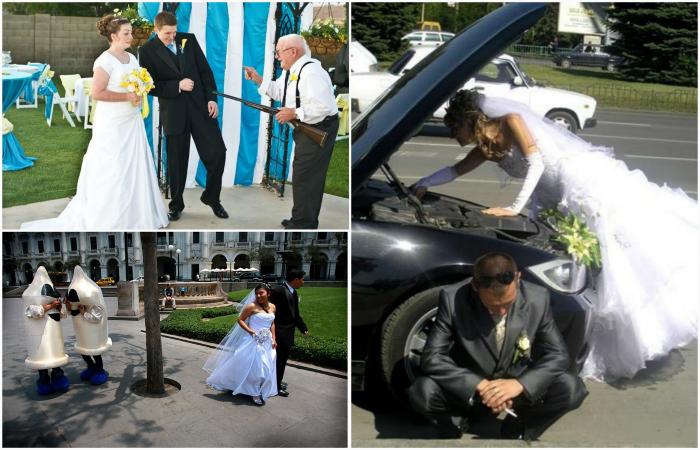 Уморительные свадебные моменты, запечатленные на снимках.