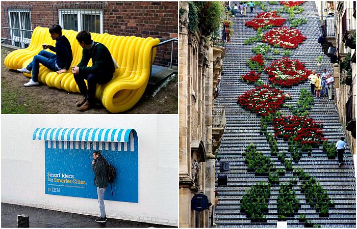 Оригинальные дизайнерские вещицы на улицах городов.