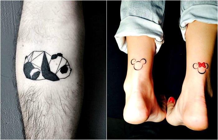 Маленькие, но очень стильные татуировки.