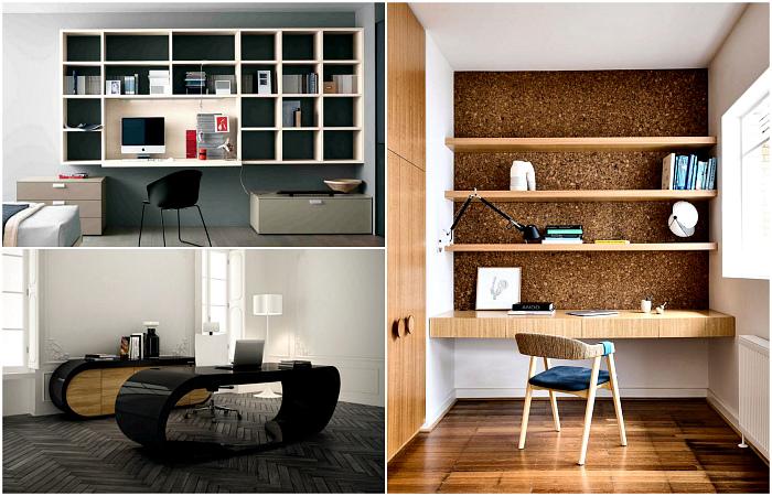Домашние офисы в современном стиле.