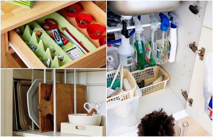 Простые и очень удобные идеи хранения вещей дома.