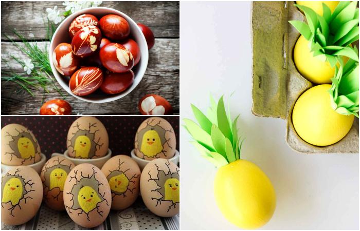 Простые и эффектные способы декора яиц.
