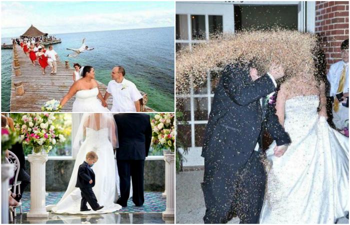 Неудачные свадебные снимки.