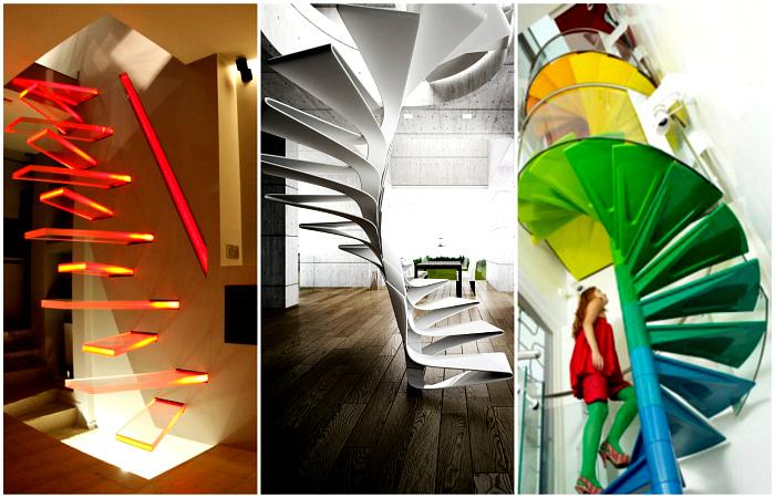 Фантастические лестницы, поражающие своей изысканностью и стилем.