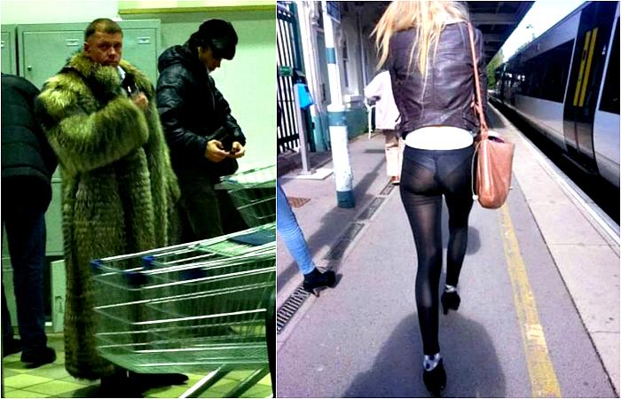 Стильные люди на улицах города.