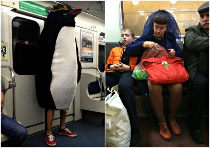 Бесподобные пассажиры подземки.