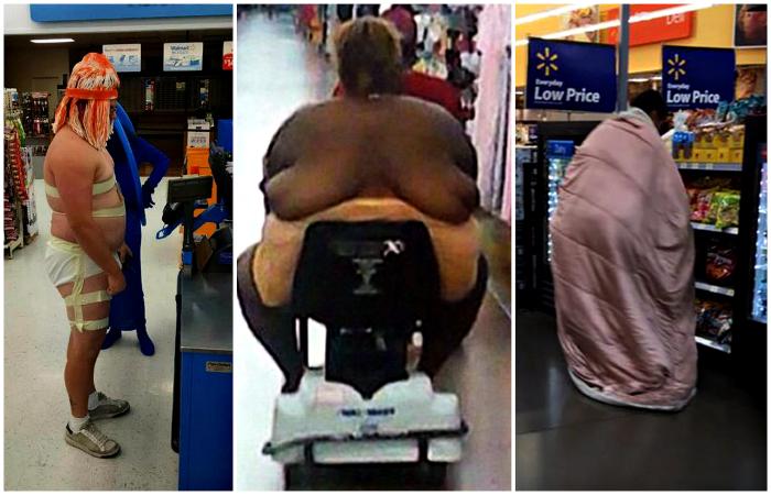 Эпатажные посетители американских супермаркетов.