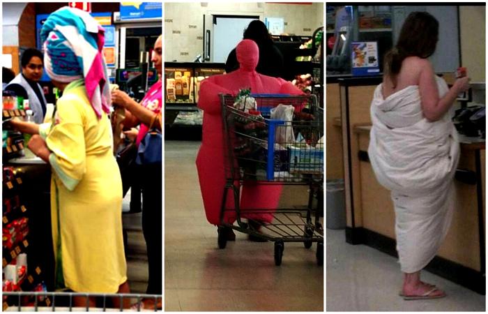 Эффектные и экстравагантные наряды посетителей американских супермаркетов.