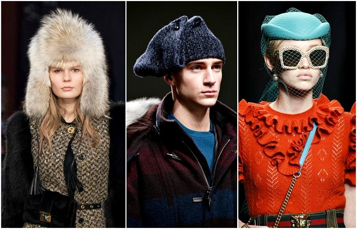 Трендовые шапки и шляпки для мужчин и женщин.