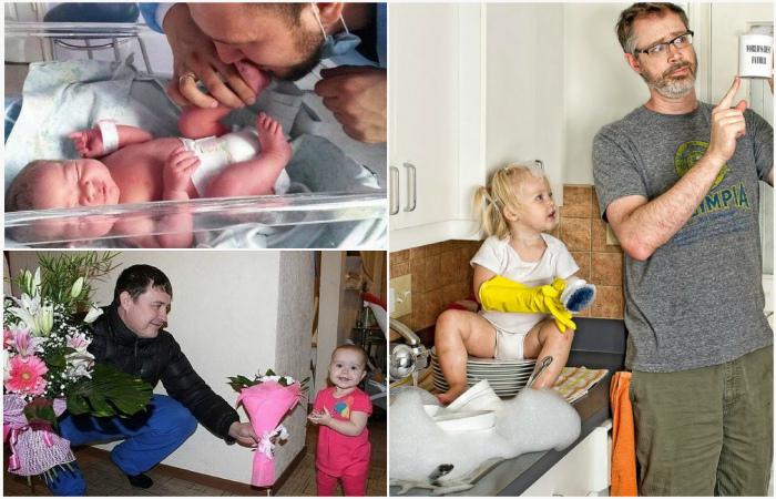 Трогательные взаимоотношения отцов и их маленьких дочурок.