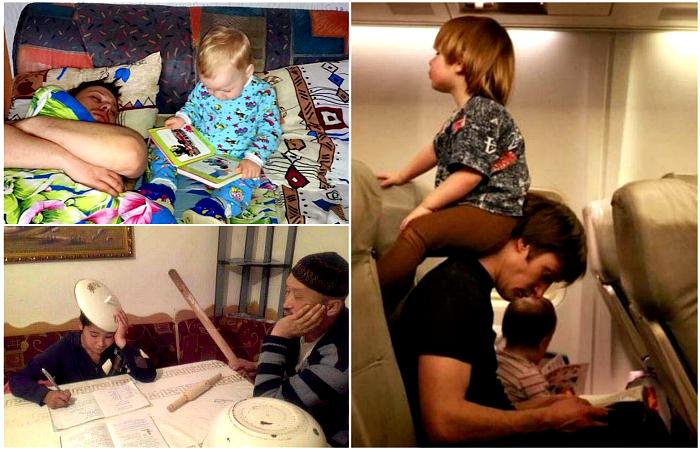 Уморительные фотографии об отцовских методах воспитания.
