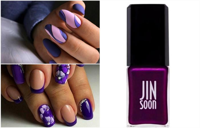 Изумительные идеи маникюра в модном фиолетовом цвете и его оттенках.