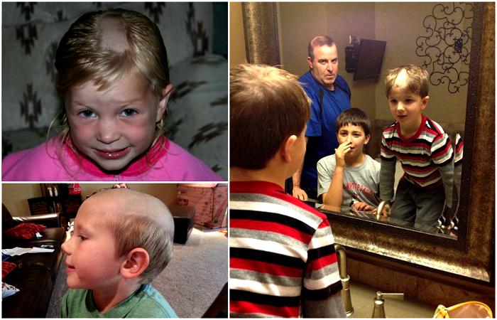Дети, которые подстриглись сами.
