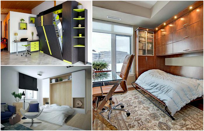 Откидные кровати в интерьере небольших квартир.