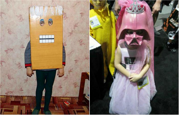 Странные детские костюмы.