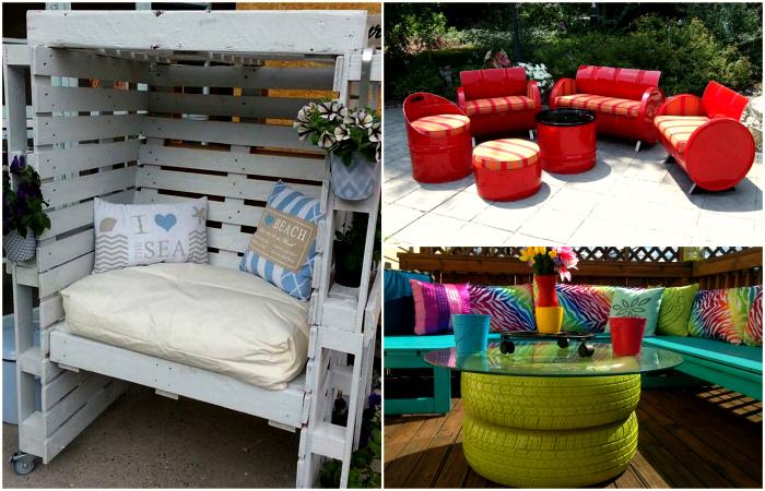 Уникальная садовая мебель, которую можно сделать своими руками.
