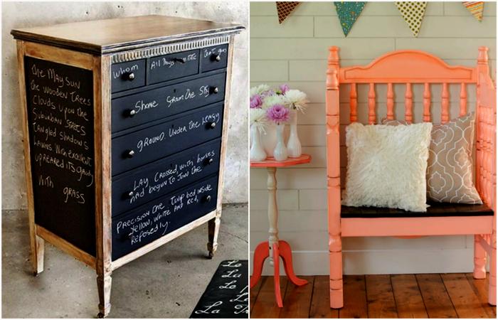 Крутые примеры обновления старой мебели.