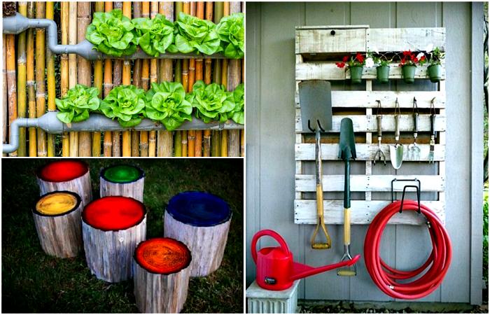 Чудесные идеи декора придомовой территории.