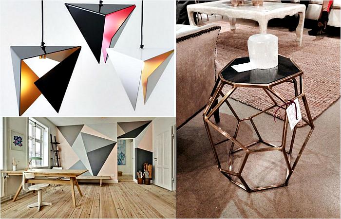 Геометрические мотивы в дизайне интерьера.