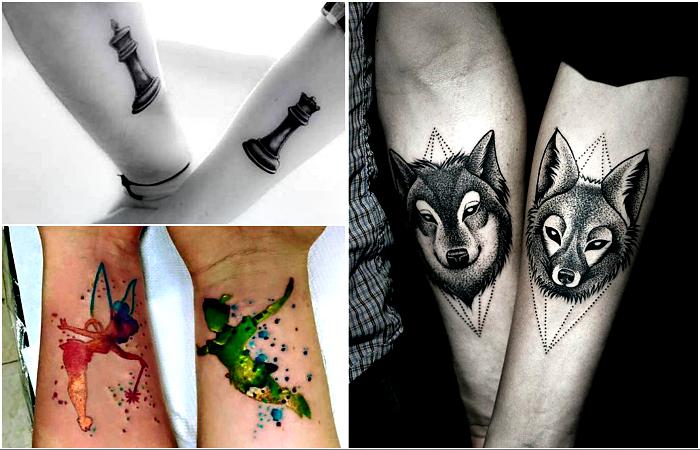 Стильные идеи парных татуировок для друзей, родственников и влюбленных.