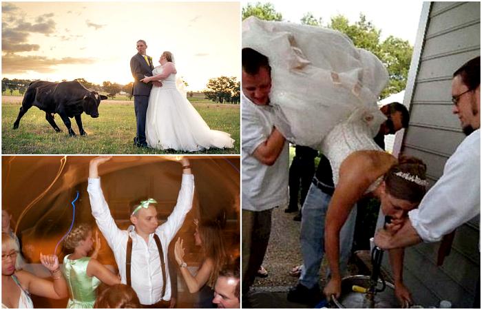 Уморительные свадебные моменты, о которых хочется забыть.