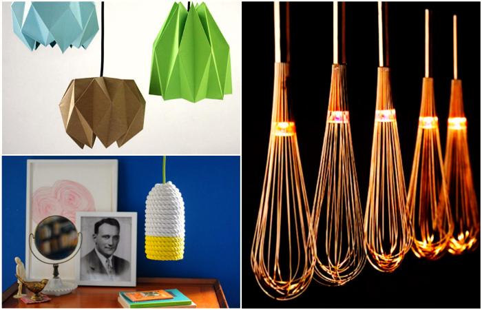 Уникальные светильники ручной работы, которые украсят и разнообразят интерьер.
