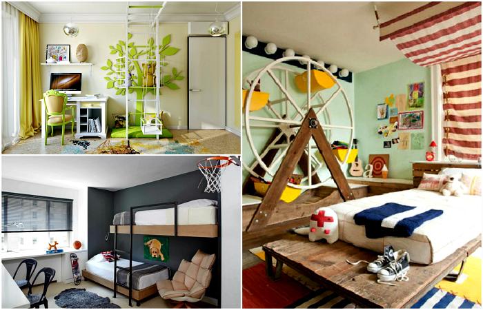 Чудесные примеры дизайна оригинальной детской комнаты.
