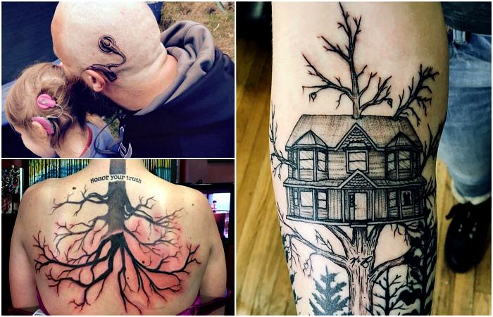 Татуировки, за которыми стоят трогательные истории из жизни.