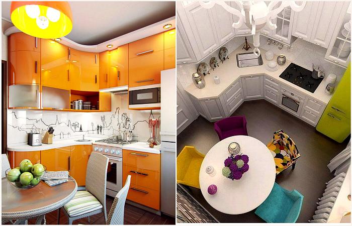 Интересные идеи дизайна очень маленькой кухни.