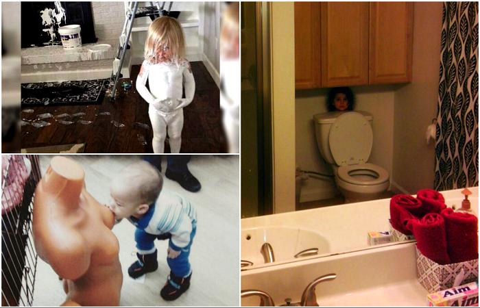 Милые детские шалости, способные свести родителей с ума.