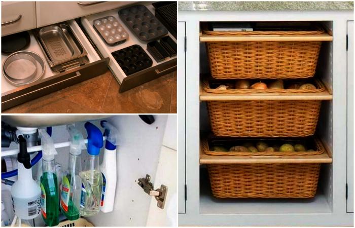Современные идеи хранения на кухне.